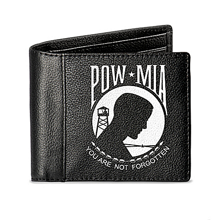 Never Forgotten RFID Blocking POW and MIA Tribute Wallet