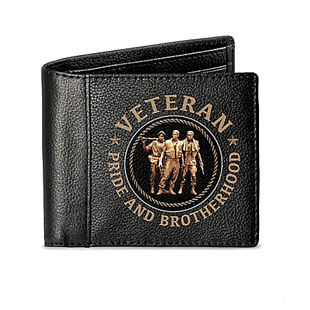 Leather Vietnam Veteran RFID Blocking Men's Wallet