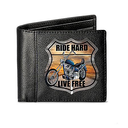 Ride Hard Men's RFID Blocking Leather Bikers' Wallet