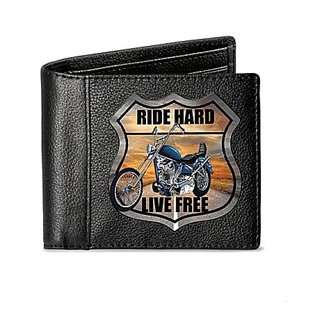 Ride Hard Men's RFID Blocking Leather Bikers' Wallet