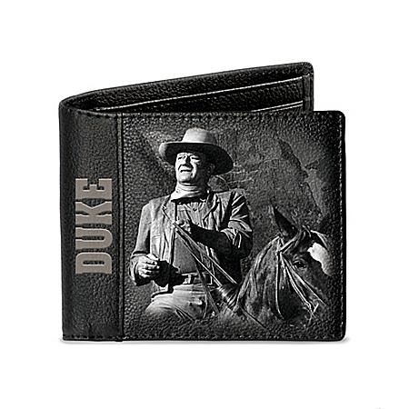 John Wayne Movie Art RFID Blocking Leather Wallet