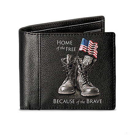 Home Of The Free RFID Blocking Men's Leather Wallet