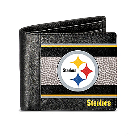 Pittsburgh Steelers RFID Blocking Men's Leather Wallet
