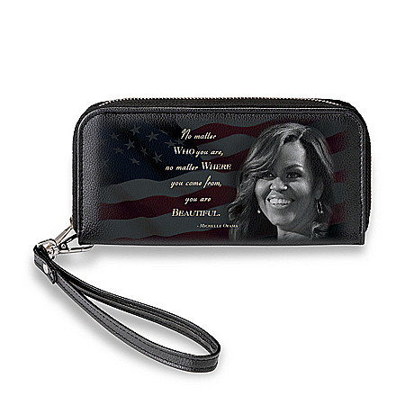 Michelle Obama Inspirational Women's Clutch Wallet