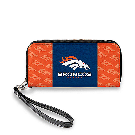 Denver Broncos Women's Faux Leather Clutch Wallet