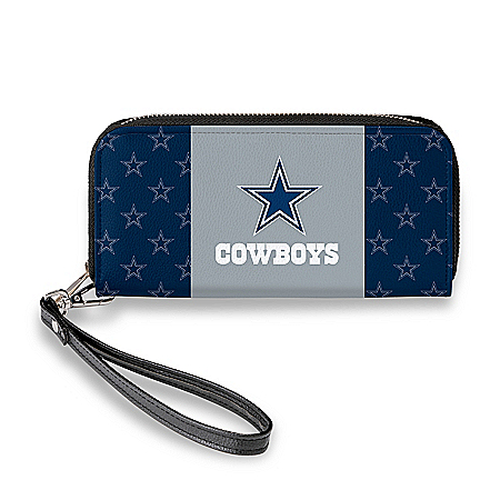 Dallas Cowboys Women's Faux Leather Clutch Wallet