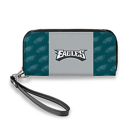 Philadelphia Eagles Women's Faux Leather Clutch Wallet