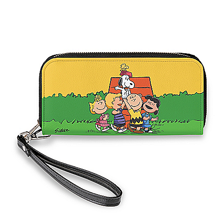 The PEANUTS Gang Women's Faux Leather Clutch Wallet
