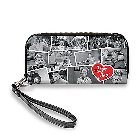I LOVE LUCY Women's Faux Leather Clutch Wallet