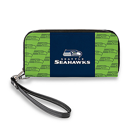 Seattle Seahawks Women's Faux Leather Clutch Wallet