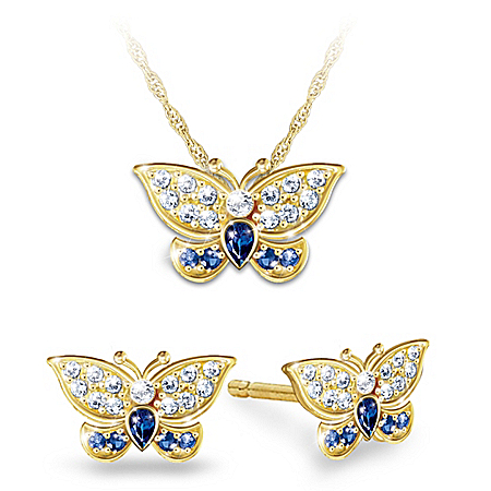 Royal-Inspired Butterfly Diamonesk Jewelry Set