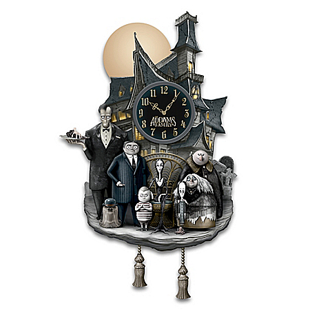 THE ADDAMS FAMILY Fully-Sculpted Glow-In-The-Dark Wall Clock