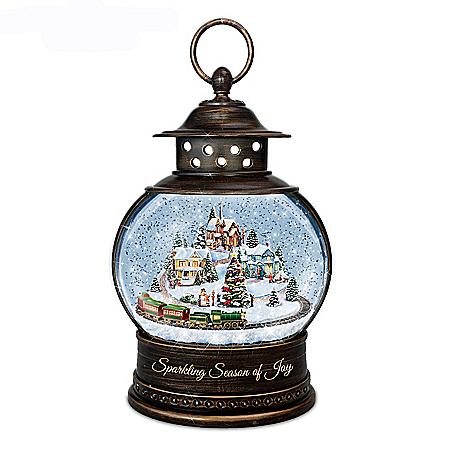 Thomas Kinkade Illuminated Christmas Snowglobe Lantern