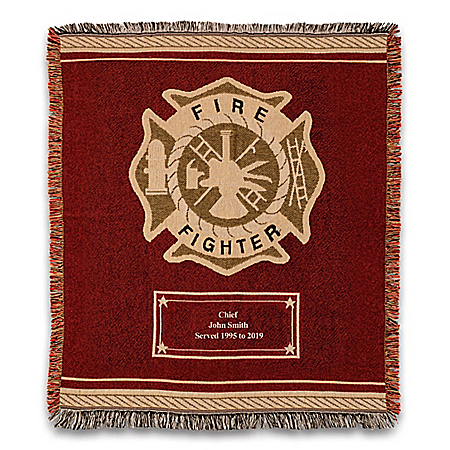 Firefighter Hero's Tribute Personalized Throw Blanket