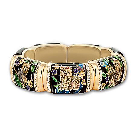 Yorkie Women's Crystal Stretch Bracelet