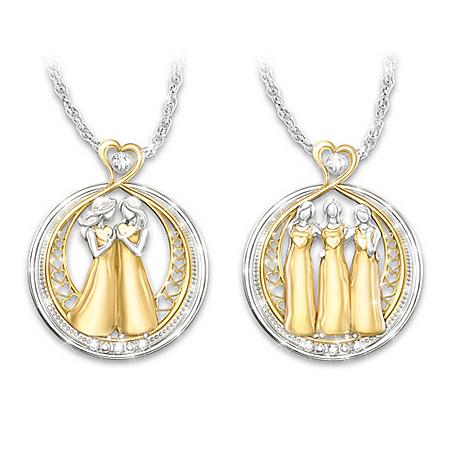 Strength In Sisterhood Crystal Necklace: Choose A Design