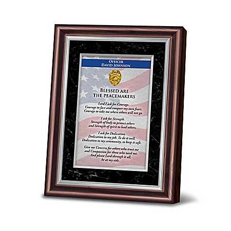 Personalized Framed Prayer Of Protection For Police Officers