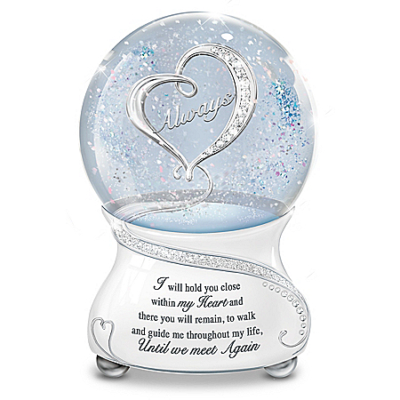 Until We Meet Again Heirloom Porcelain Musical Glitter Globe