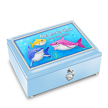 Baby Shark Music Box With Personalized Name Charm