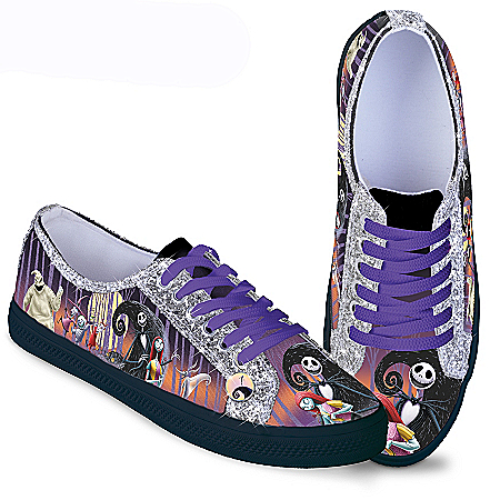 The Nightmare Before Christmas Ever-Sparkle Canvas Shoes