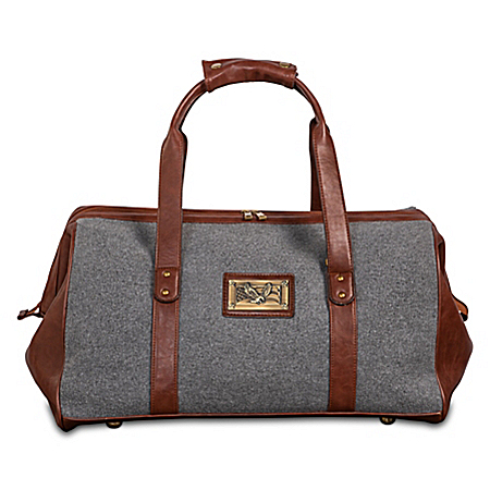 Patriotic Pride Widemouth Duffel With Bronze-Finish Plaque