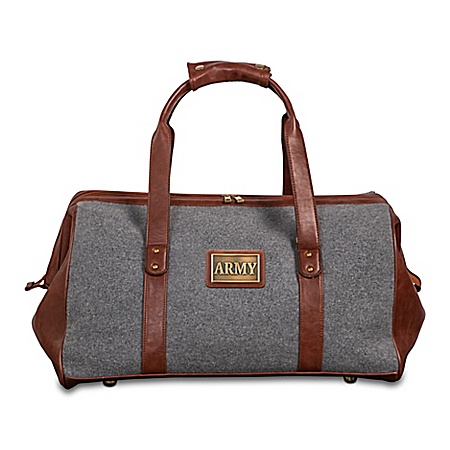 Army Pride Widemouth Duffel With Bronze-Finish Plaque
