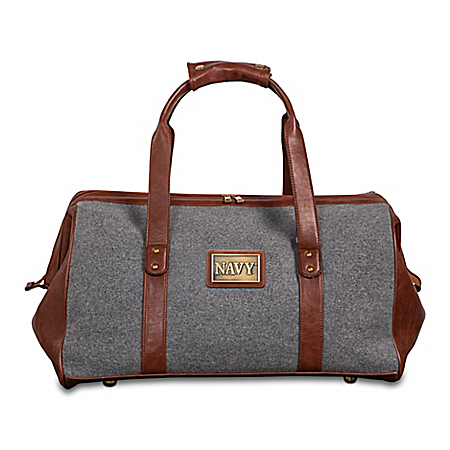 Navy Pride Widemouth Duffel With Bronze-Finish Plaque