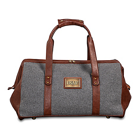 Air Force Pride Widemouth Duffel With Bronze-Finish Plaque