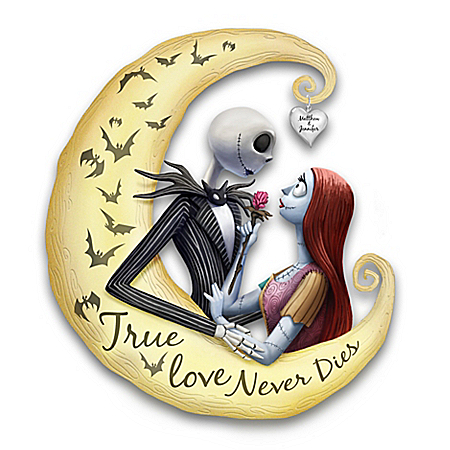 Jack And Sally Glow-In-The-Dark Personalized Wall Decor