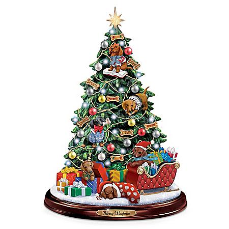 Making Spirits Bright Dachshund Christmas Tree