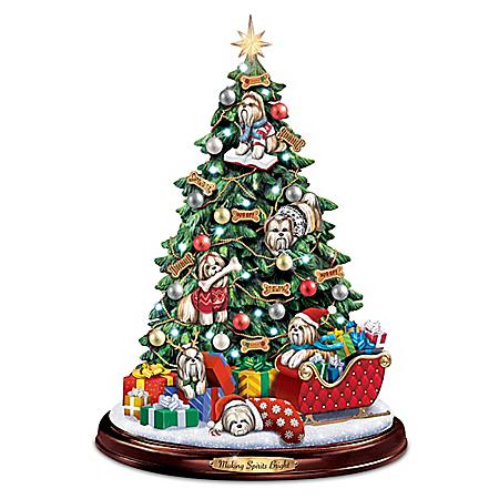 Making Spirits Bright Shih Tzu Christmas Tree