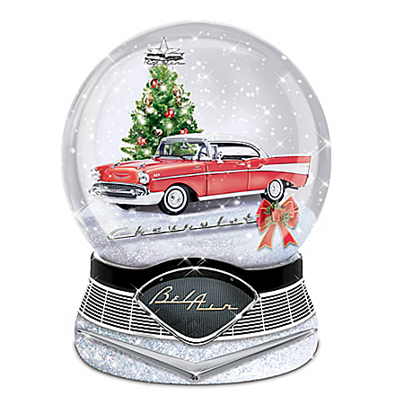 Chevrolet Bel Air-Inspired Water Globe With Lights And Sound