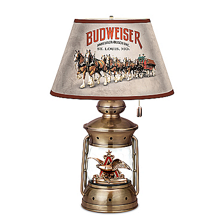 Budweiser Lantern Lamp With A&Eagle Logo And 3-Way Lighting