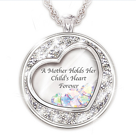 Necklace: A Mother Holds Her Child's Heart Personalized Pendant Necklace – Personalized Jewelry
