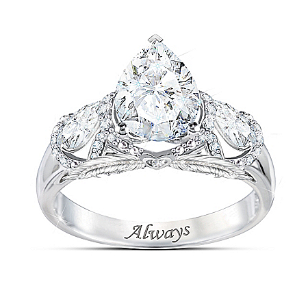 Message From Heaven Diamonesk Simulated Diamond Ring