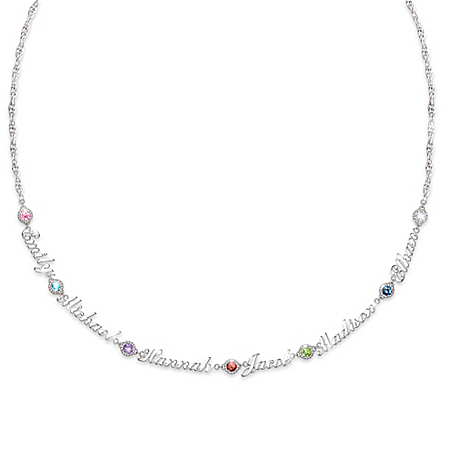 Names That I Love Women's Personalized Family Birthstone Necklace – Personalized Jewelry