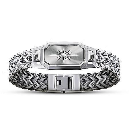 Dream Big, My Grandson Chain Bracelet With White Sapphire