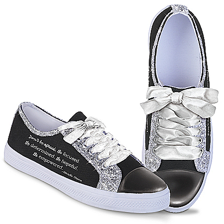Michelle Obama Canvas Women's Shoes With Inspirational Quote