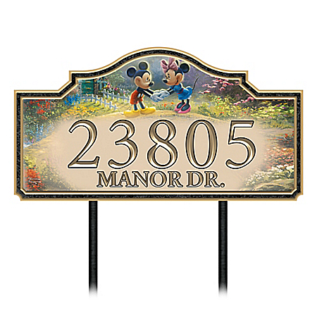 Disney Thomas Kinkade Our Loving Home Personalized Address Sign