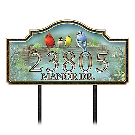 Country Songbirds Personalized Outdoor Address Sign