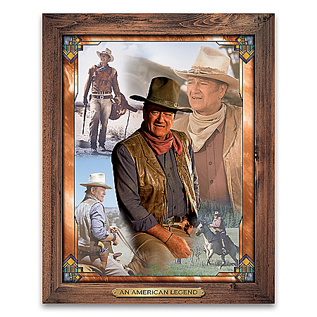 The Legend Of John Wayne Self-Illuminating Wall Decor