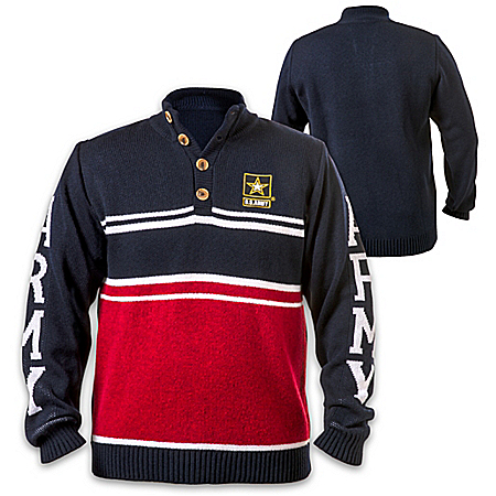 U.S. Army Pullover Sweater With Embroidered Emblem