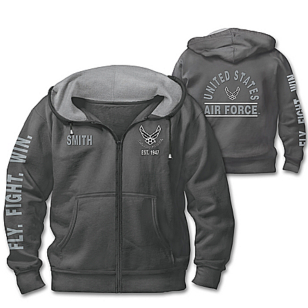Ready At The Reveille USAF Personalized Men's Hoodie