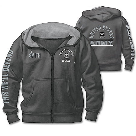 Ready At The Reveille U.S. Army Personalized Men's Hoodie