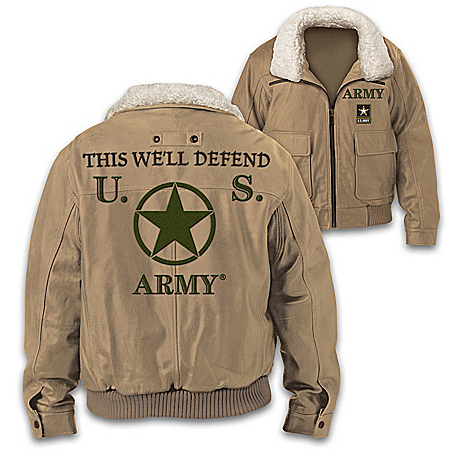 U.S. Army This We'll Defend Men's Twill Bomber Jacket