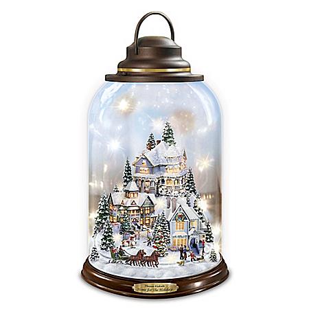 Thomas Kinkade Home For The Holidays Illuminated Lantern