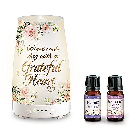 Grateful Heart Essential Oils And Illuminated Diffuser Set