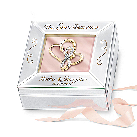 Mother And Daughter Forever Mirrored Music Box