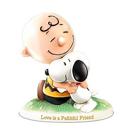 PEANUTS Love Is A Faithful Friend Musical Porcelain Figurine