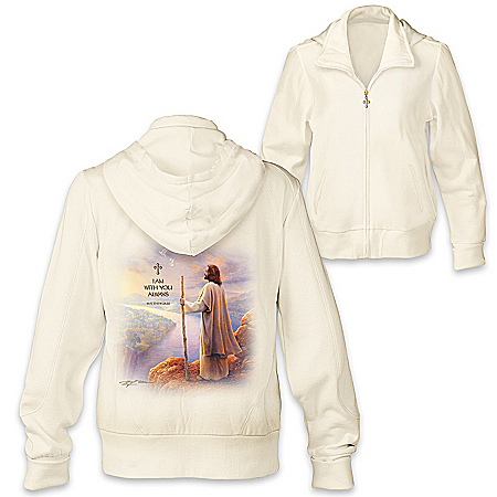 I Am With You Always Women's Hoodie With Greg Olsen Artwork